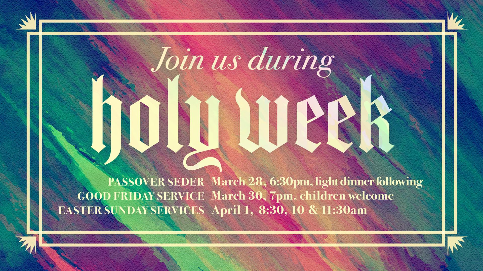 Saratoga-Holy Week Events