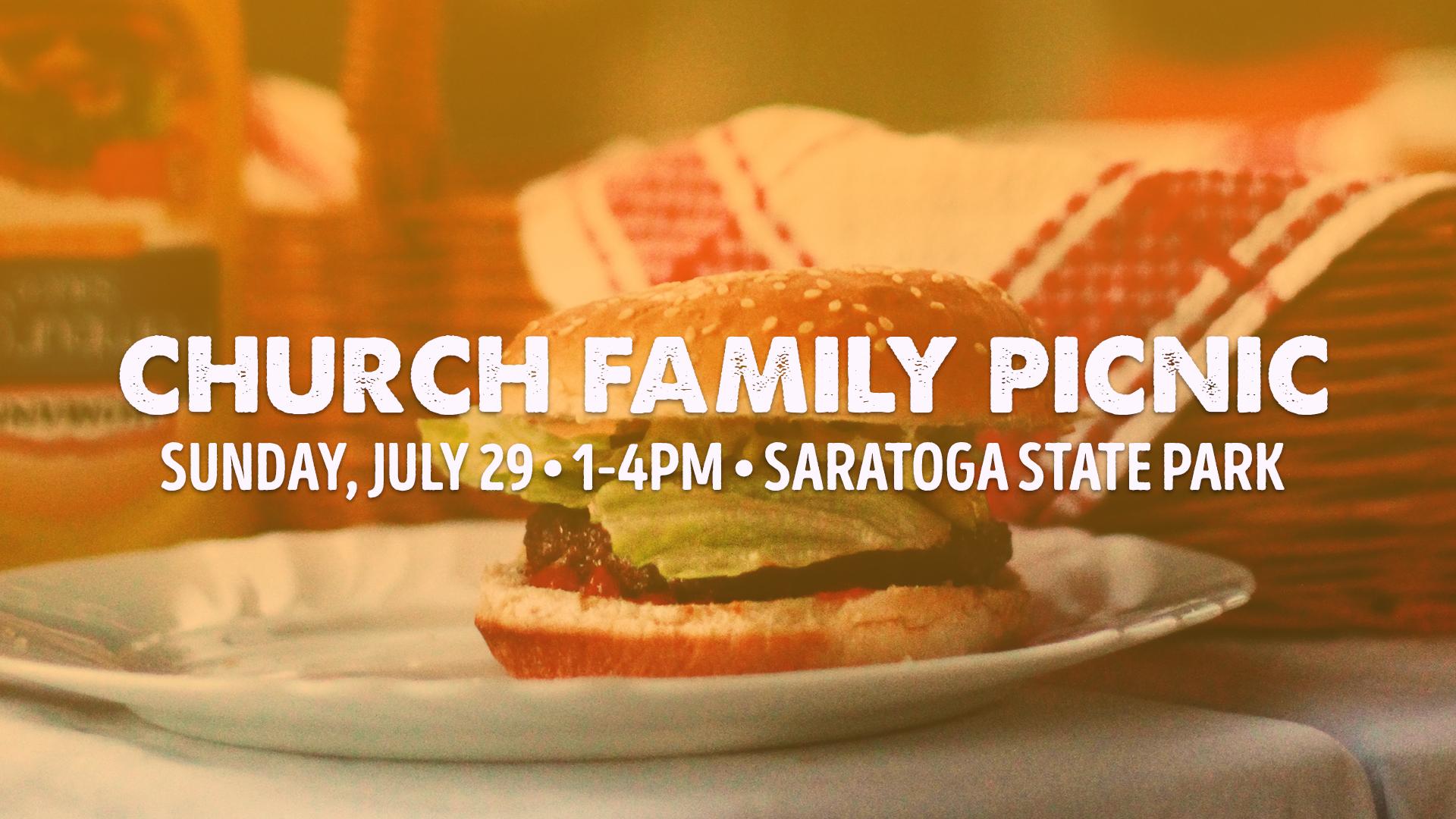 Church Picnic-Sunday, July 29th