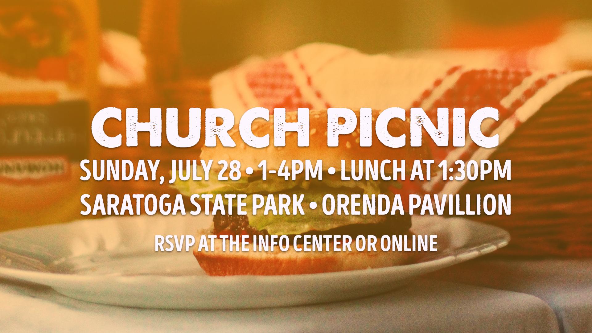 Church Picnic-Sunday, July 28th