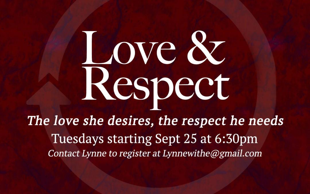 Saratoga Love & Respect Bible Study