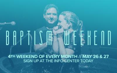 Latham – Baptism Weekend Coming Soon!