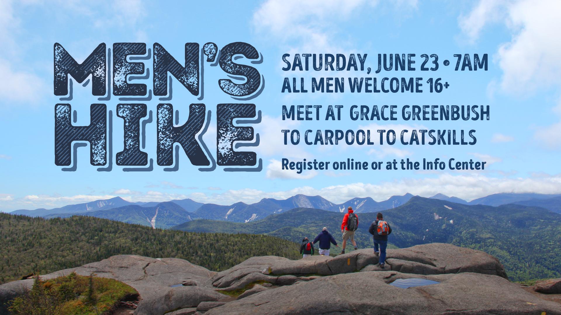 Men's Hike – Saturday, June 23rd