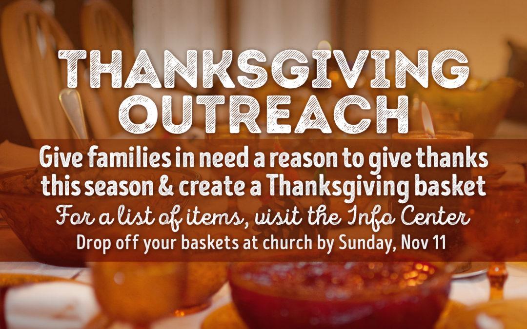 Halfmoon Thanksgiving Baskets