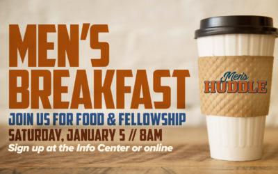 Men's Huddle Breakfast 1/5/19