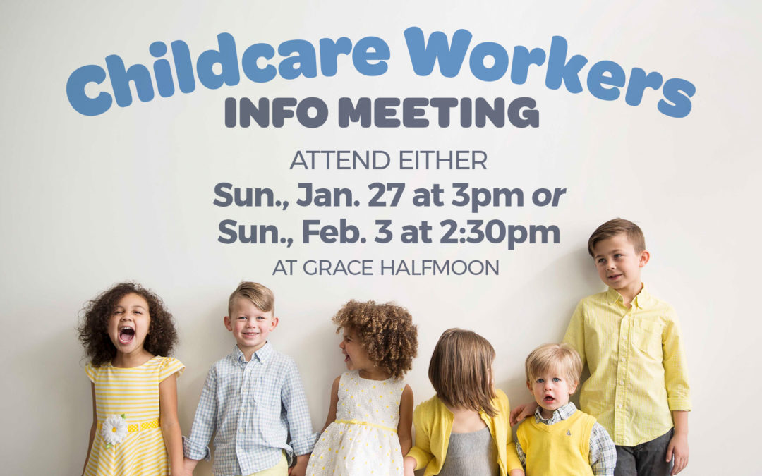 Childcare Workers Info Meeting