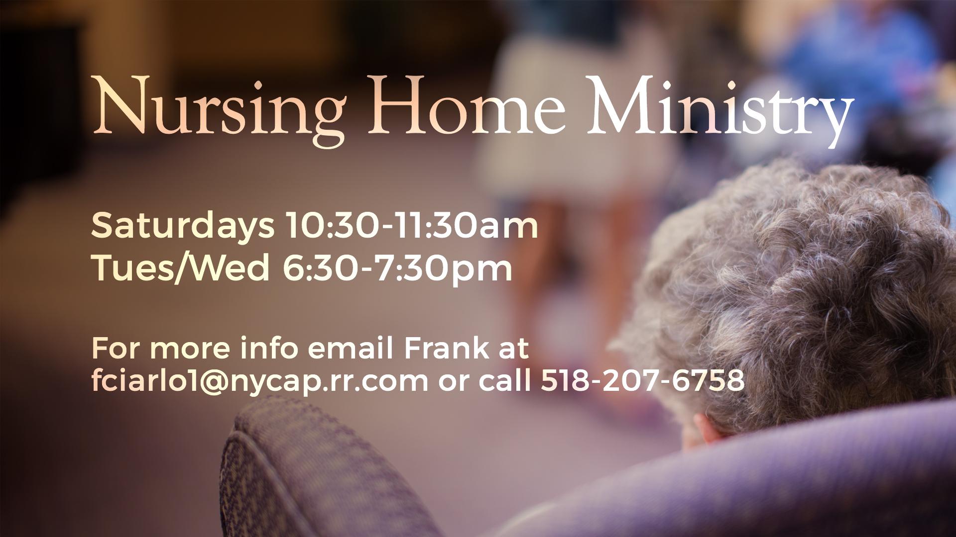 Nursing Home Ministry Opportunity