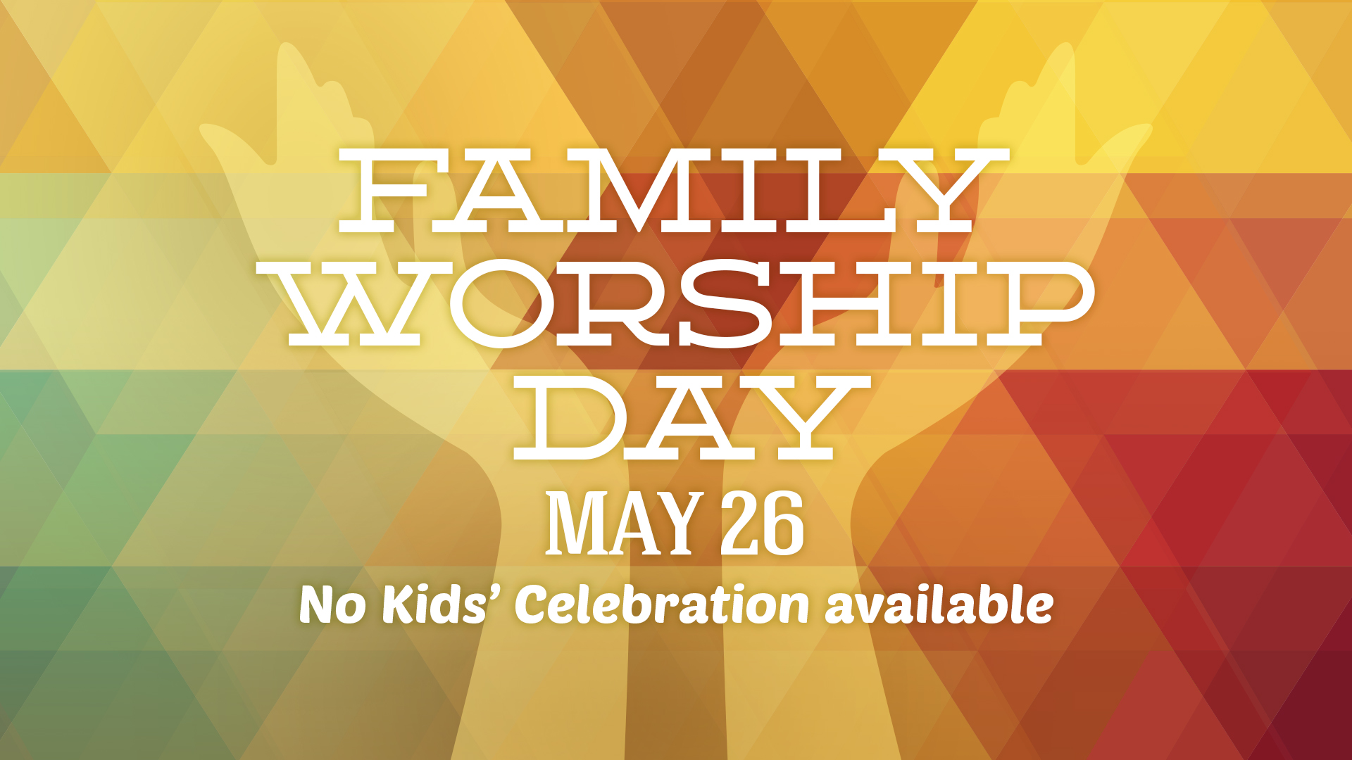 Saratoga Family Worship Day