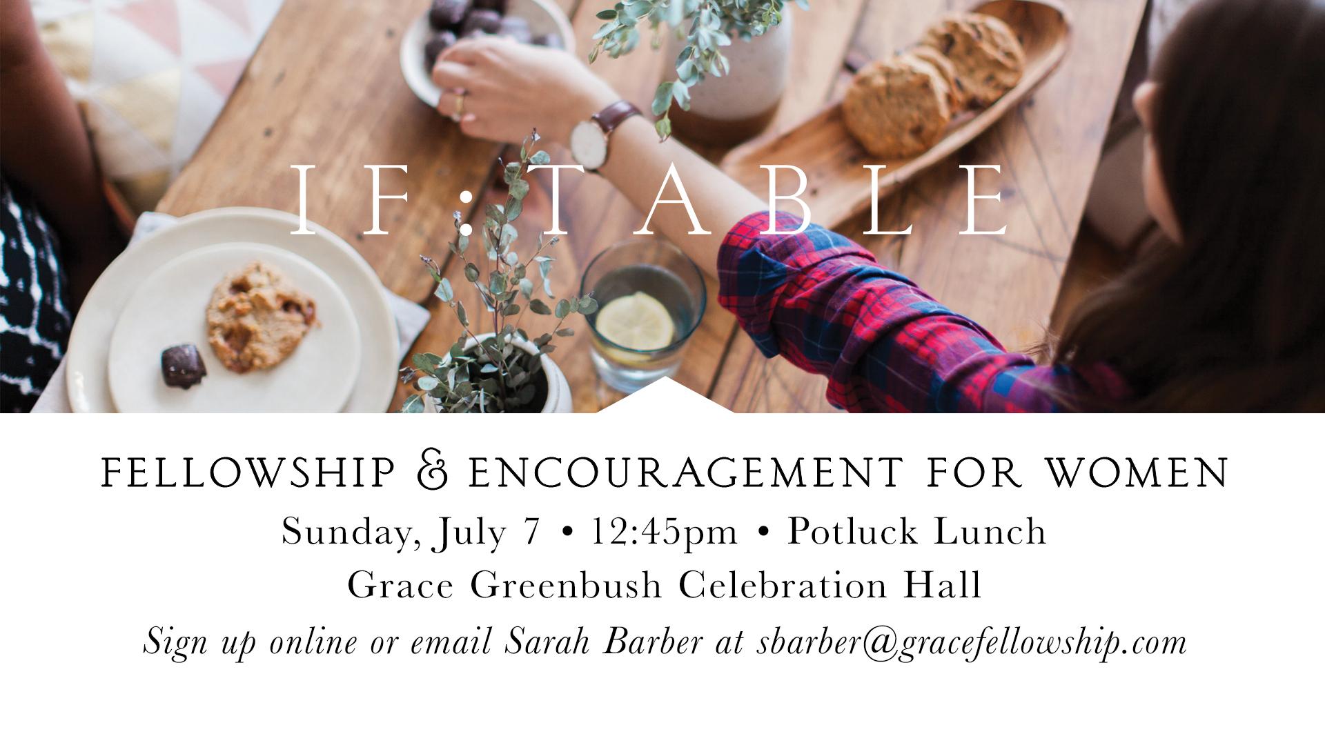 Greenbush: IF – Table