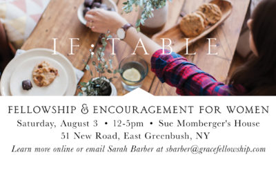 Greenbush IF:Table – New Date and Location!