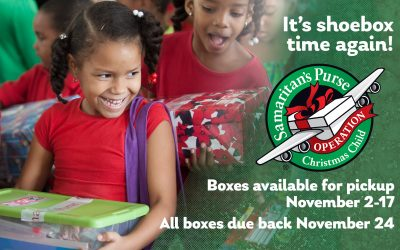 Operation Christmas Child – Pack a Box!