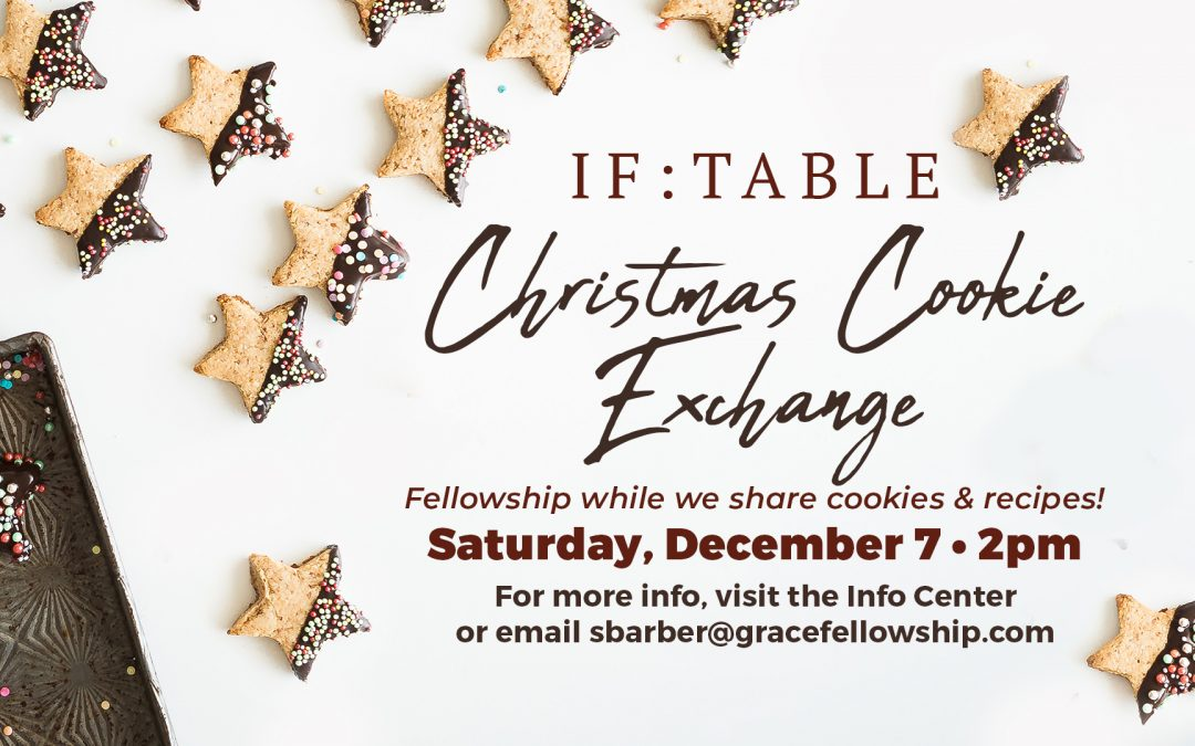 IF:Table Christmas Cookie Exchange