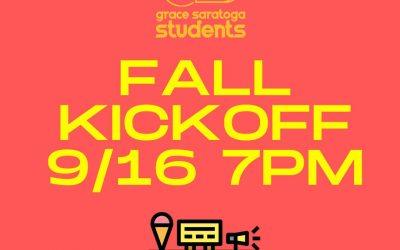 Grace Saratoga Students Fall Kickoff Event
