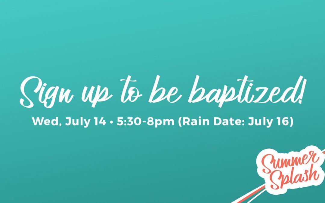 Halfmoon Baptism Sign Up